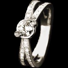 Кольцо из золота 750 пробы с  бриллиантами(Франция)