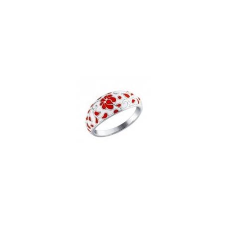 94011113  Кольцо из серебра 925 пробы с эмалью SOKOLOV