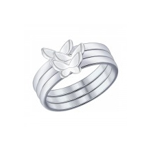 "94012014 Кольцо ""Бабочки"" из серебра SOKOLOV"
