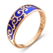 2307293-3 Кольцо из позолоченного серебра с эмалью, Красная Пресня