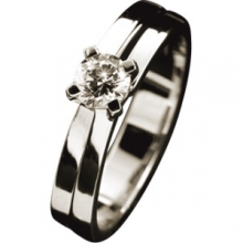 Кольцо из золота 750 пробы с бриллиантами, OTELINA