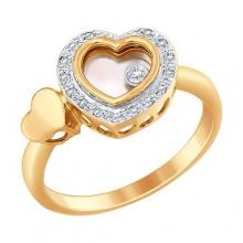 1011655 Кольцо-сердце с бриллиантами Sokolov
