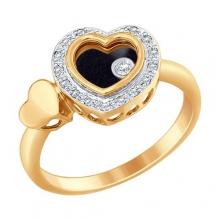 1011656 Кольцо-сердце с бриллиантами Sokolov