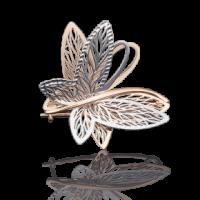 """Брошь-подвеска """"Бабочка"""" из золота с эмалью арт.04-0137-00-000-1111-48  , Платина"""