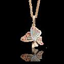 Подвеска-бабочка из золота с эмалью арт. 03-2745-00-000-1110-48 , Платина