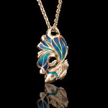 """Подвеска """"Золотая рыбка""""из золота с эмалью арт.03-2686-00-000-1110-48 Платина Кострома"""