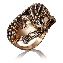 "Кольцо ""КРОКОДИЛ"" из золота арт. 01-5205-00-000-1110-59, ПЛАТИНА КОСТРОМА"