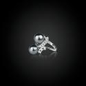Кольцо из золота 750 пробы с жемчугом Таити и бриллиантами(Франция), PACOMA