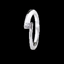 Кольцо  из золота 750 пробы с бриллиантом