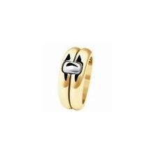 Обручальное кольцо из золота  750 пробы
