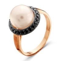 2336289Д1 Кольцо из позолоченного серебра с жемчугом, Красная Пресня