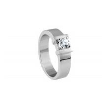 Мужское кольцо из золота 750 пробы с бриллиантом,  ROURE
