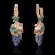 "Серьги ""Виноград"" из золота арт.02-3659-00-404-1110-32, Платина Кострома"