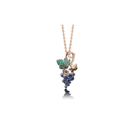 "Подвеска ""Виноград"" из золота арт.03-2360-00-404-1110-24, Платина Кострома"