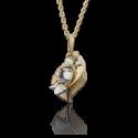 """Подвеска """"Ландыши"""" из золота с эмалью арт. 03-2653-00-000-1121-59, Платина"""