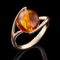 Кольцо из золота с янтарем арт. 01-4936-00-271-1110-46, Платина Кострома
