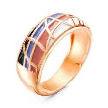 2308577-2 Кольцо из позолоченного серебра с эмалью, Красная Пресня