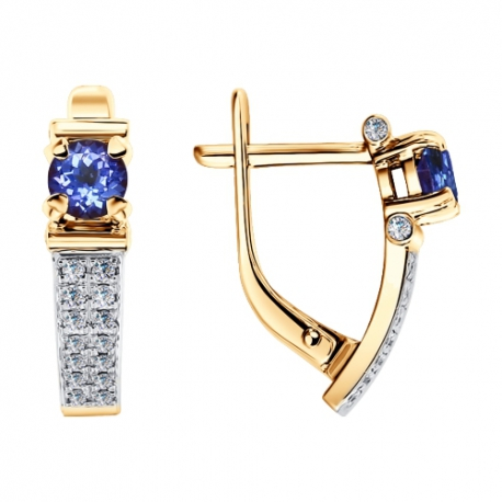 Серьги 6024102 с танзанитом и бриллиантами Sokolov