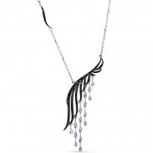 6-363-55 Колье из золота с черными и бесцветными бриллиантами, МАСТЕР БРИЛЛИАНТ
