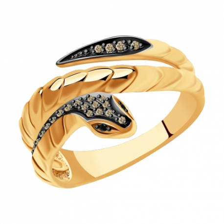 7010067 Кольцо из золота с бриллиантами Sokolov