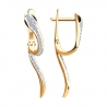 7020071 Серьги из золота с бриллиантами Sokolov