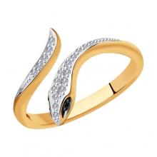 7010066 Кольцо из золота с бриллиантами Sokolov
