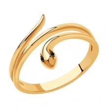 7010068 Кольцо из золота с черными бриллиантами Sokolov
