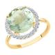 716027 Кольцо из золота с зеленым аметистом, SOKOLOV