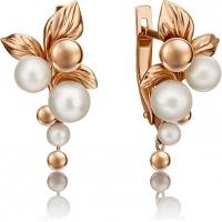 Серьги из золота с жемчугом - PLATINA Jewelry