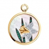 """1030820 Подвеска """"Нарцисс"""" из золота с бриллиантом и изумрудом SOKOLOV Charm"""