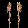 Серьги из золота с аметистом и эмалью, Платина Кострома