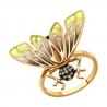6019023 Кольцо из золота с бриллиантами и эмалью SOKOLOV