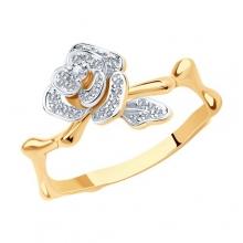 1011277 Кольцо из золота с бриллиантами SOKOLOV