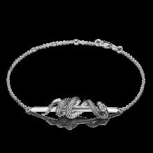 """Браслет из серебра """"Змея"""" ЮЗ Платина"""