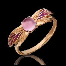 Кольцо из золота с аметистом, ЮЗ Платина