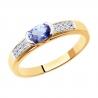 6014165 Кольцо из золота с танзанитом бренда Sokolov