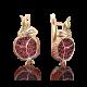 """Серьги """"Гранат"""" из золота с эмалью арт. 02-4047-00-204-1110-57 , Платина Кострома"""