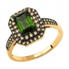 6014195 Кольцо из золота с турмалином и  бриллиантами - SOKOLOV