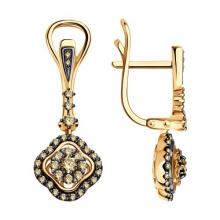 1021741 - Серьги из золота с бриллиантами - SOKOLOV