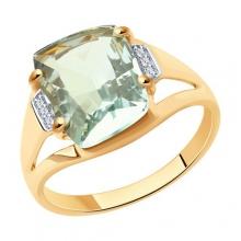 716531 - Кольцо из золота с зеленым аметистом - SOKOLOV