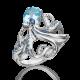 Кольцо из серебра с эмалью и топазом - ЮЗ Платина