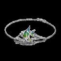 Браслет из серебра с эмалью и топазом - ЮЗ Платина