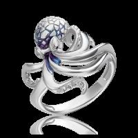 Кольцо из серебра с эмалью - ЮЗ Платина