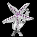 Кольцо из серебра с эмалью и аметистом - ЮЗ Платина