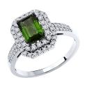 6014196-3 Кольцо из золота с турмалином и  бриллиантами - SOKOLOV