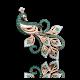"Брошь ""Павлин"" из золота арт. 04-0120-02-404-1110-52, ПЛАТИНА КОСТРОМА"