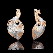 Серьги из золота арт. 02-3744-00-401-1110-48, Платина