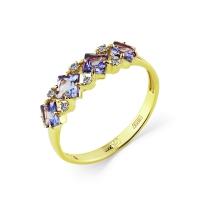 1-308232-00-31 Кольцо из золота с танзанитом, МАСТЕР БРИЛЛИАНТ