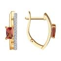 6024260 - Серьги из золота с турмалином и  бриллиантами - SOKOLOV