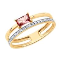 6014212 - Кольцо из золота с турмалином и  бриллиантами - SOKOLOV